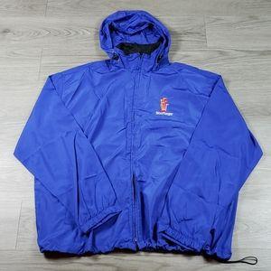 Six Flags Lightweight Rain Vented Jacket sz Medium